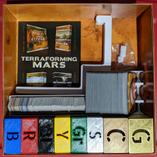 Picture of print of Terraforming Mars Board Game Insert