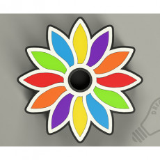 Boite a Bijoux-Fleur multicolore