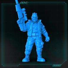 Cyberpunk Male Rifle Up Standing