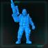 Cyberpunk Male Rifle Up Standing image