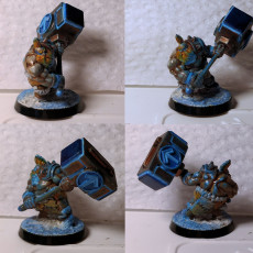 Picture of print of Dwarven Barbarian Miniature