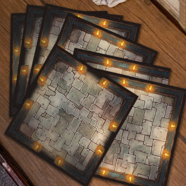 Dungeons Map Tiles - Kickstarter - Add on's Cover