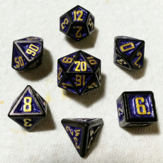 D&D Dice Set with Outset Numbering (d4 to d20)