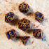 D&D Dice Set with Outset Numbering (d4 to d20) image