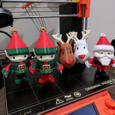 Articulated Christmas Toys Multimaterial