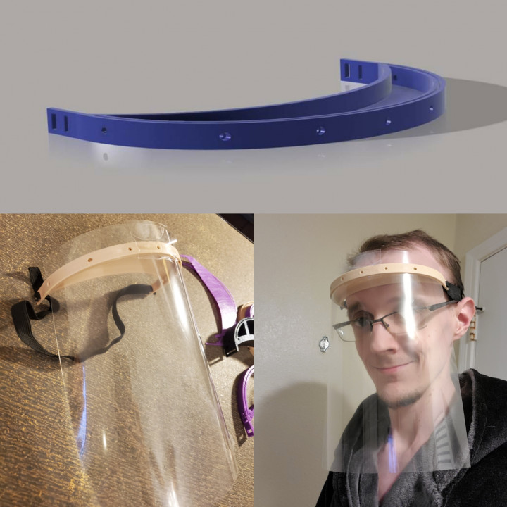 Laser Free Face Shield / face Mask frame.