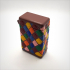 Box with hinge, printed in one part, harlequin patterns. image