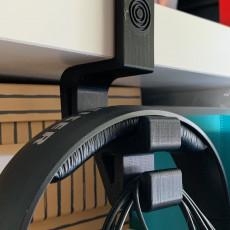 Headphone Holder (for IKEA Kallax, Expedit, Linnmon or PÅHL or other 37, 34.5, 50 or 11 mm desk)
