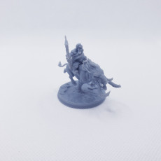 Picture of print of Gino on Wulf-Hog - Dwarven Oathbreakers