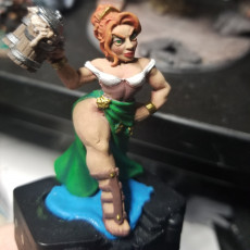 Picture of print of Fraia - Dwarven Beauty (Fantasy Pinup)