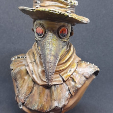 Picture of print of Plague Doctor