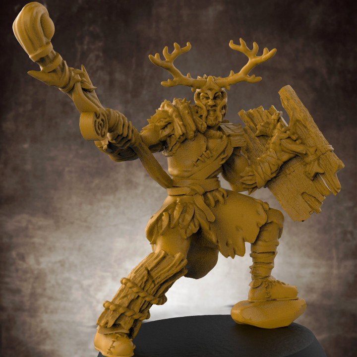 Male Druid RPG Character - 32mm scale miniature
