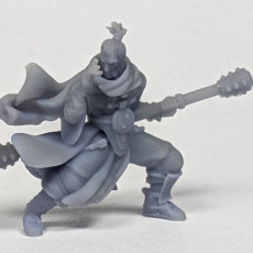 Picture of print of Male RPG Monk - Human, Elf, Half Orc, Tiefling - 32mm miniature
