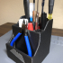 Tool Organizer - Tool Caddy With Embedded Magnets - 3D Printer Tool Holder image