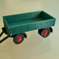Flatbed Trailer H0 Scale 1:87