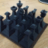 Low-Poly Styled Chess Set image