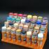 Vallejo 32 slot paint rack flat print image