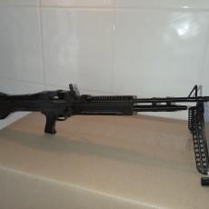 Picture of print of M60 Machinegun - scale 1/4