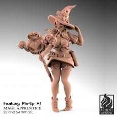 Mage Apprentice - Fantasy Pin-up #1