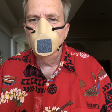Picture of print of N95 Montana Mask