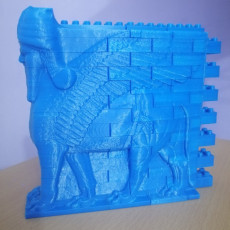 Picture of print of Montini Assyrian Winged Bull Wall Set (Lego Compatible)