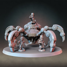Patreon March2020 Release - Giant Steampunk Mech Spider and Gnome Artificers