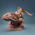 Giant Lizard mounted and unmounted image