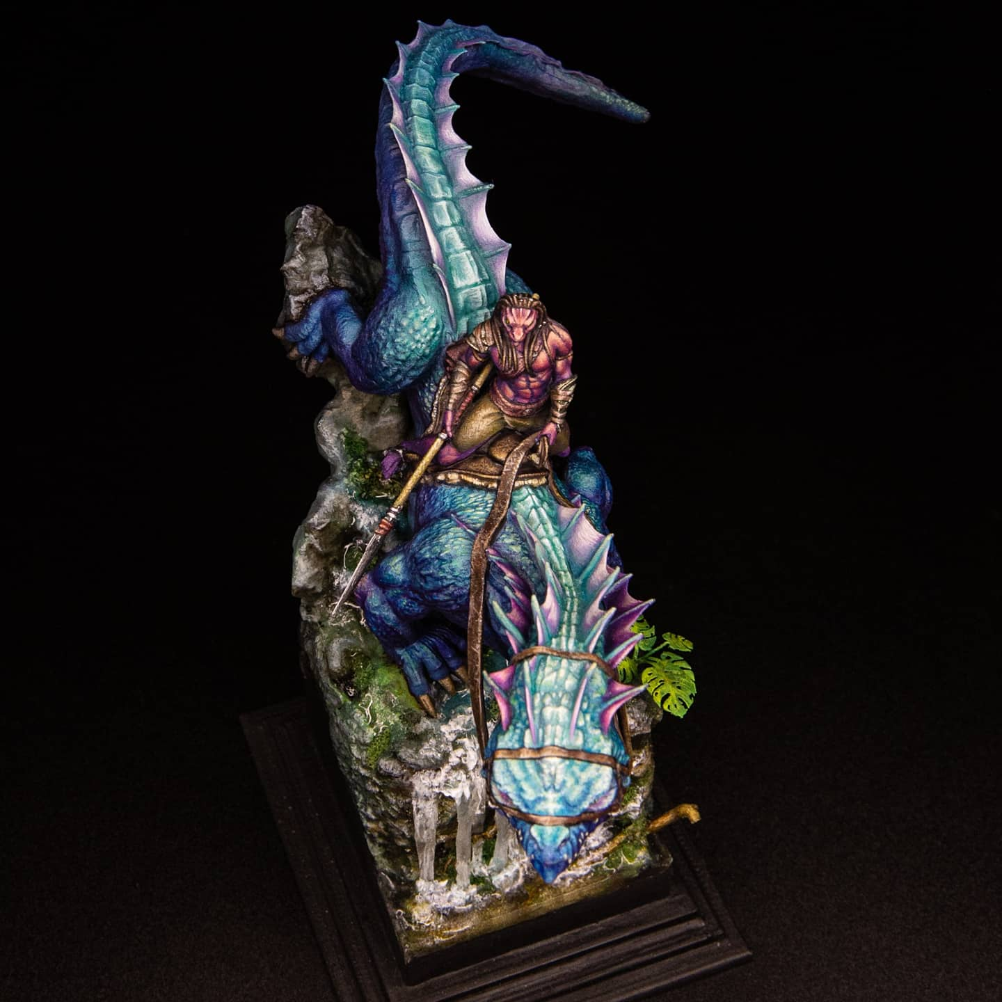 GIANT LIZARD MOUNTED sculpted by Lord of the Print
