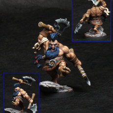 Picture of print of Orny - Dwarf Berseker - 32mm - DnD -