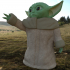 Low Poly Baby Yoda Like Figure image
