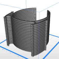Stackable visor large spacing