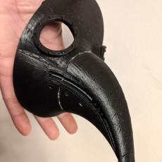 Plague Doctor Mask - Flat edges for easier printing