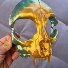 Picture of print of Cat Skull Mask