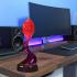 Modern Swirling Flame Lamp image