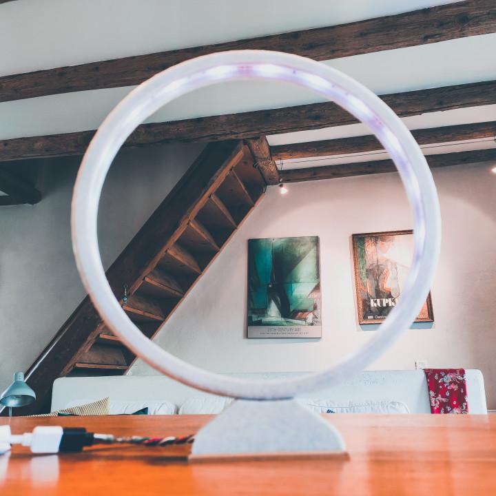 Led strip ring lamp