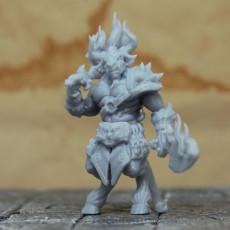 Picture of print of Minotaur Warrior - PRESUPPORTED