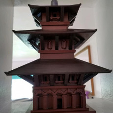 Picture of print of Durbar Square Pagoda