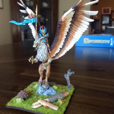 Picture of print of Spellblades - Mage on Griffin