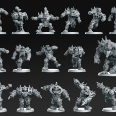 Orc Team 16 miniatures Fantasy Football 32mm