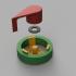 24 mm masking tape dispenser with magnetic mount image