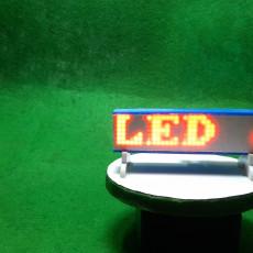 how to make a portable dot matrix Electronic display