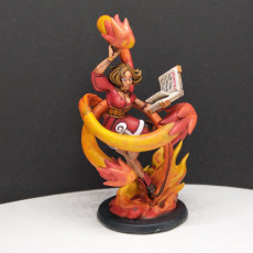 Picture of print of Ellie the Genasi Mage (Fire)