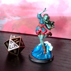 Picture of print of Ellie the Genasi Mage  (Water)