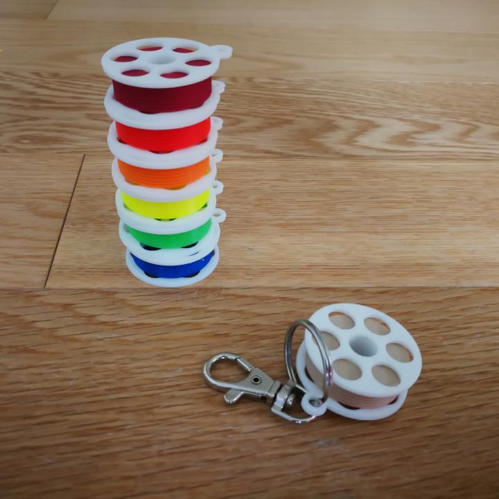 Mini Filament Spool Keychain