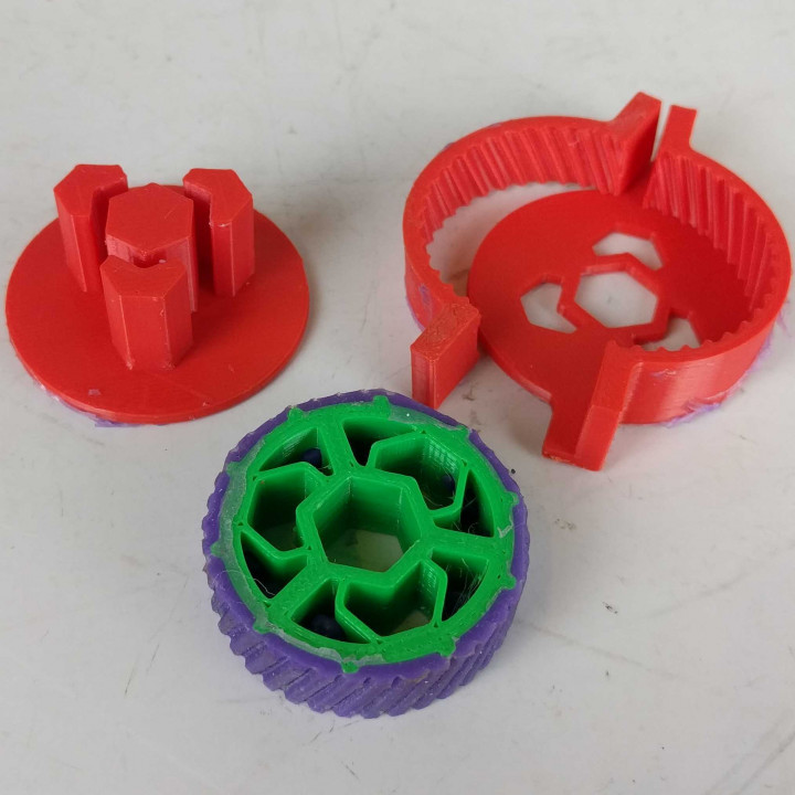 Comolded Silicone Wheels for 150g combat robot
