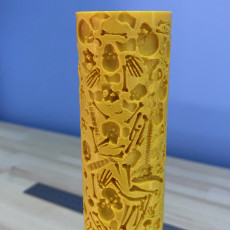 Picture of print of Texture rolling pin bones