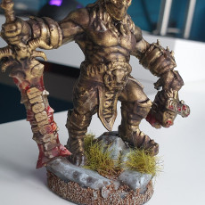 Picture of print of OCD Half-orc slays Covid-19 Ogre
