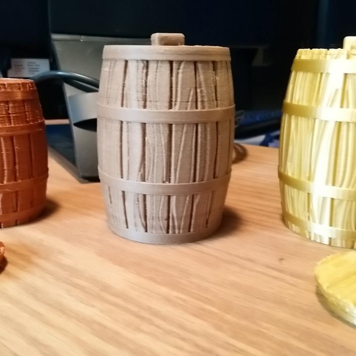 Wooden Barrel for Jar or Bank