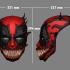 Deadpool Mask x Venom Mask Cosplay Halloween Helmet image