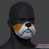 Bulldog Face Mask Halloween Cosplay 3DPrintable image